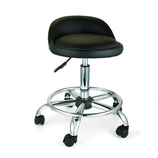 View a Larger Image of Adjustable Height Shop Stool with Casters and Feet