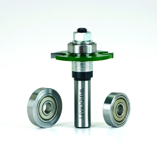 "View a Larger Image of Biscuit Joining Router Bit Set 1/4"" Shank"