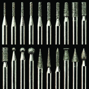 "Diamond Dust Carving Burr Set, 1/8"" Shank, 20 pack"