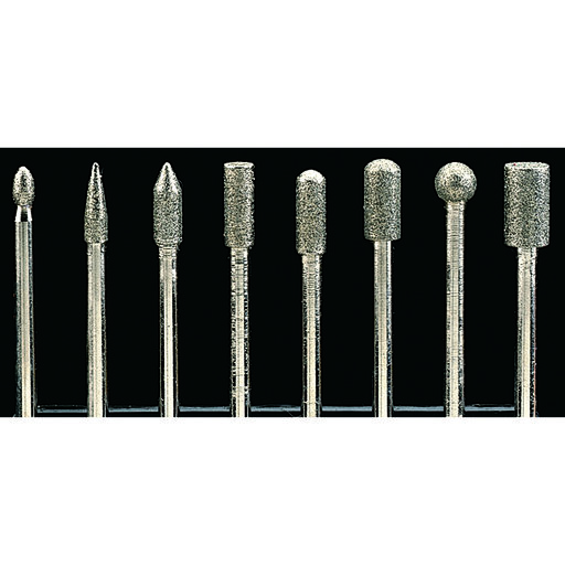 "View a Larger Image of Diamond Dust Carving Burr Set, 3/32"" Shank, 8 piece"
