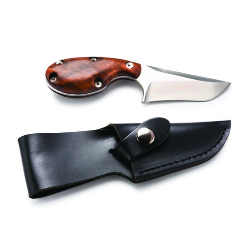 View a Larger Image of Modified Skinner Knife Kit w/Black Leather Sheath