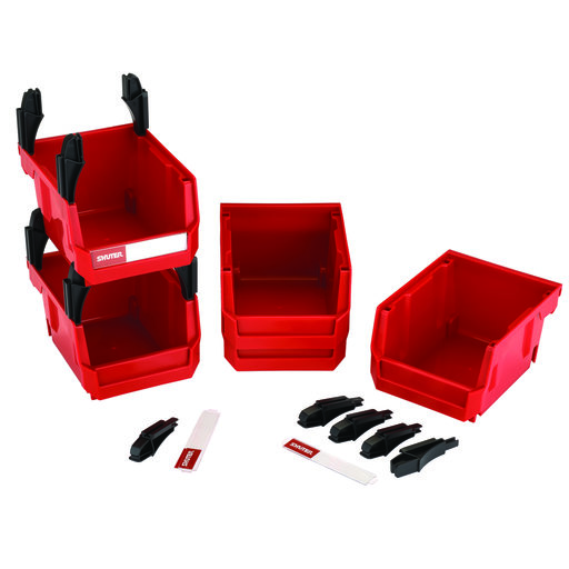 View a Larger Image of Stackable Bins 5-Bin set
