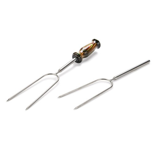 View a Larger Image of Stainless Steel Campfire Roasting Fork Turning Kit 4pc