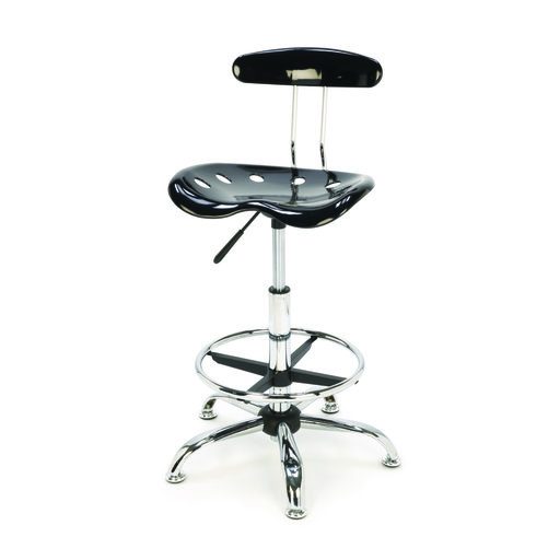 View a Larger Image of Tractor Seat Style Shop Stool with Adjustable Height