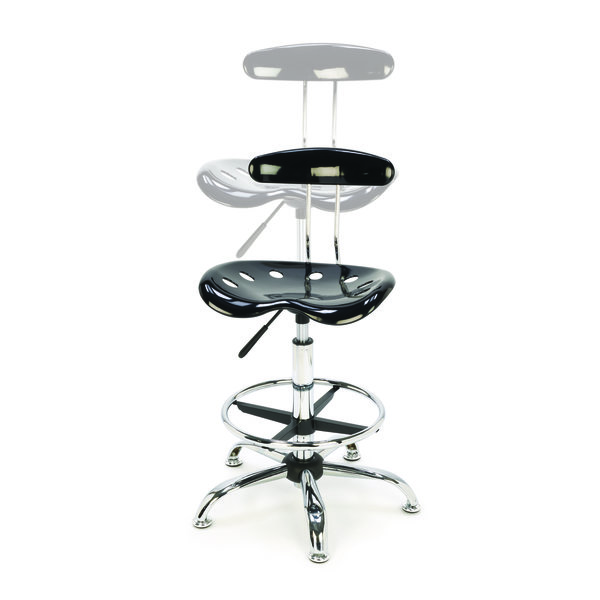 view a different image of tractor seat style shop stool with adjustable height