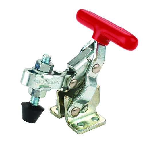 """View a Larger Image of Vertical T Handle Toggle Clamp, 1-1/4"""" x 1/8"""", 200 lb. Capacity"""