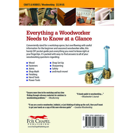 View a Larger Image of Woodworker's Pocket Reference