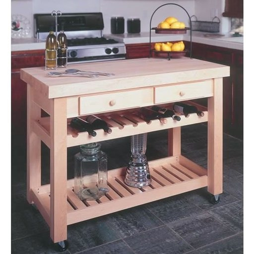 View a Larger Image of Woodworking Project Paper Plan for Kitchen Island, No. 932
