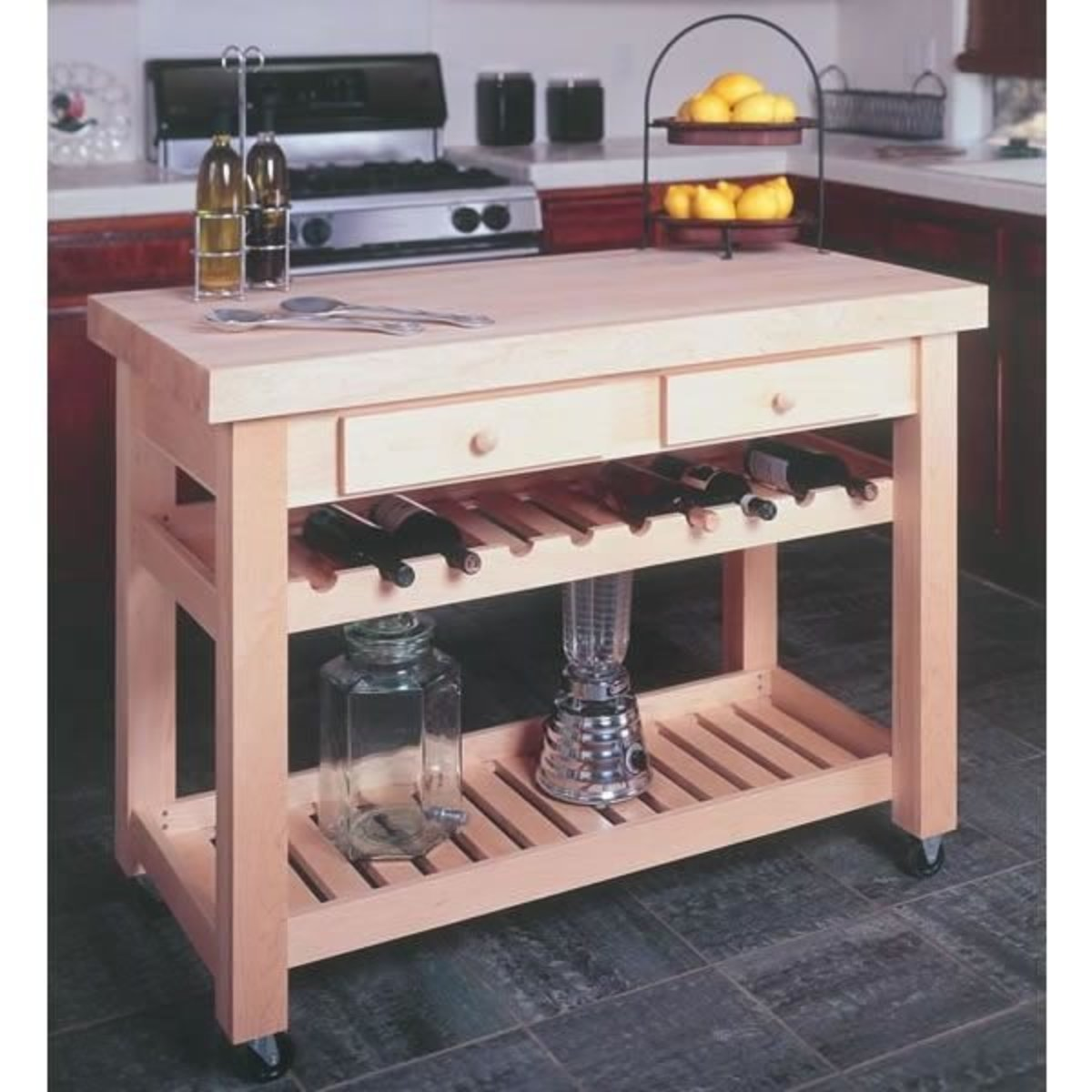 Woodworking Project Paper Plan For Kitchen Island, No. 932