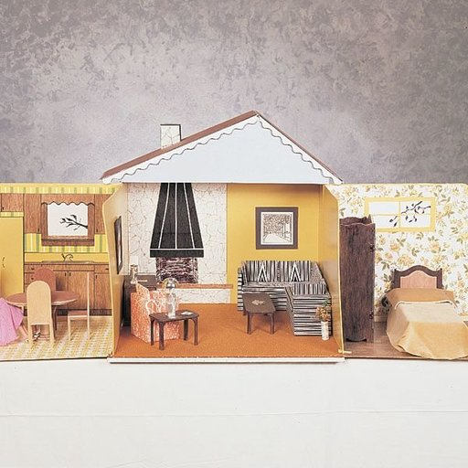 View a Larger Image of Woodworking Project Paper Plan to Build 11.5 Inch Doll House, Plan No. 697