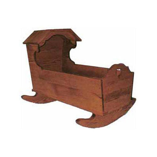 View a Larger Image of Woodworking Project Paper Plan to Build 18th Century Hooded Cradle