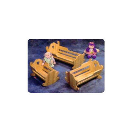 View a Larger Image of Woodworking Project Paper Plan to Build 3 Doll Cradle