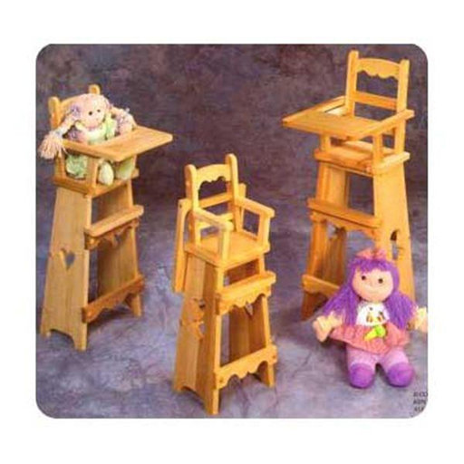 View a Larger Image of Woodworking Project Paper Plan to Build 3 Doll High Chair