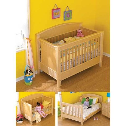 View a Larger Image of Woodworking Project Paper Plan to Build 3-in-1 Bed for All Ages