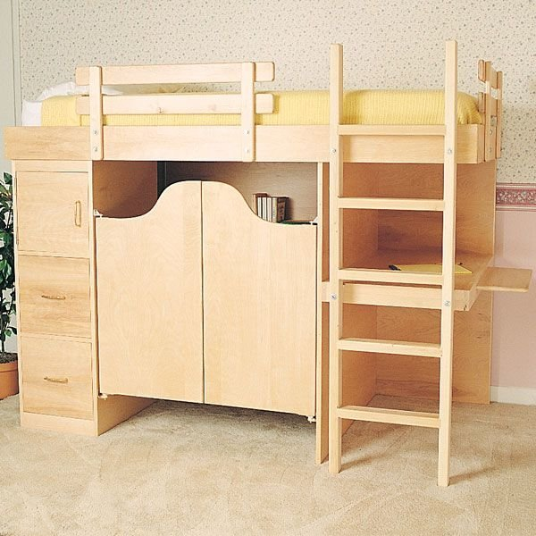 Woodworking Project Paper Plan To Build 3 In 1 Bunk Bed No
