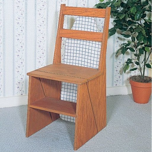 View a Larger Image of Woodworking Project Paper Plan to Build 3-In-1 Chair, Plan No. 798