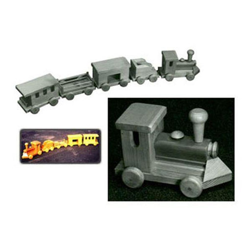 View a Larger Image of Woodworking Project Paper Plan to Build 4' Toy Train