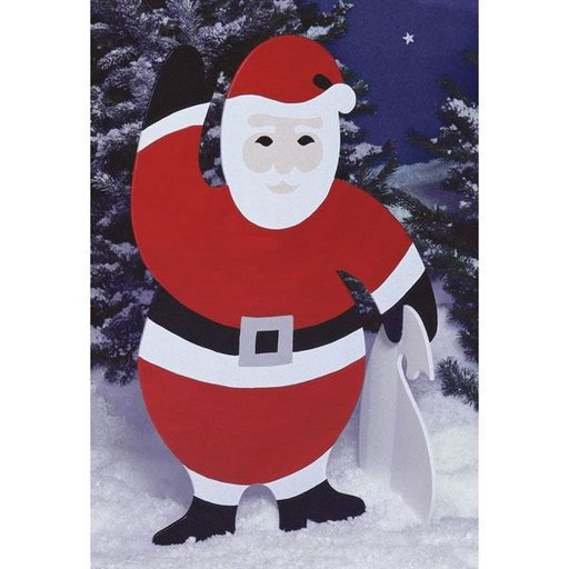View a Larger Image of Woodworking Project Paper Plan to Build 4 ft. Santa