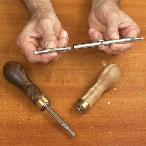 View a Larger Image of Woodworking Project Paper Plan to Build 4-in-1 Turned Handle Screwdriver