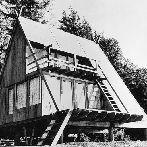 View a Larger Image of Woodworking Project Paper Plan to Build A-Frame Cabin, Plan No. 381