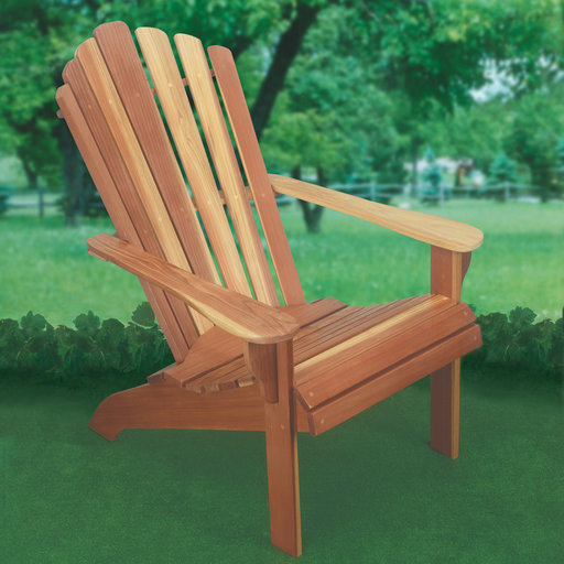 View a Larger Image of Woodworking Project Paper Plan to Build Adirondack Chair