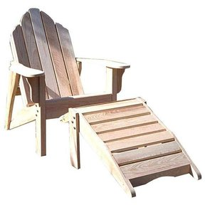 Woodworking Project Paper Plan to Build Adirondack Chair and Footstool, AFD241
