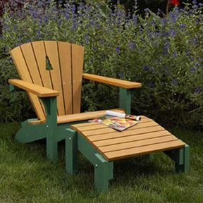 Woodworking Project Paper Plan to Build Adirondack Chair & Footstool