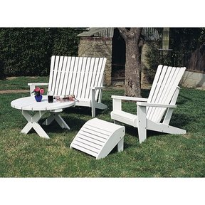 Woodworking Project Paper Plan to Build Adirondack Footrest, Plan No. 802