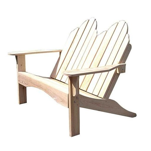 View a Larger Image of Woodworking Project Paper Plan to Build Adirondack Love Seat, AFD242