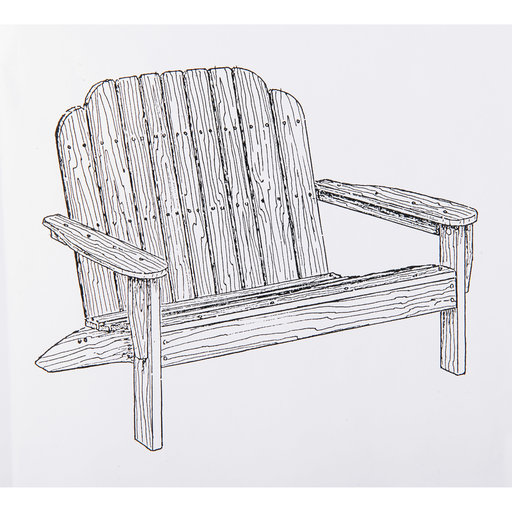 View a Larger Image of Woodworking Project Paper Plan to Build Adirondack Loveseat