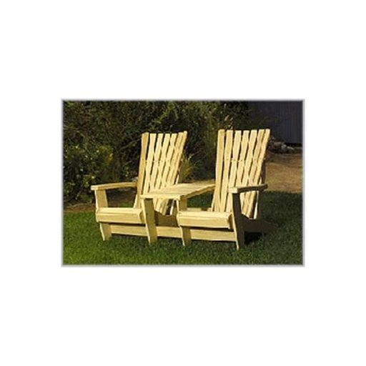View a Larger Image of Woodworking Project Paper Plan to Build Adirondack Twin Seater Plan