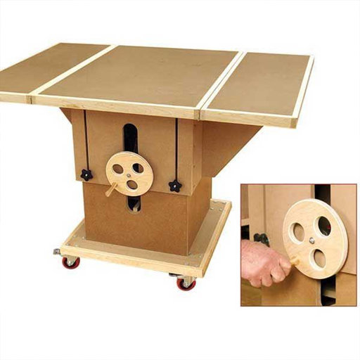 View a Larger Image of Woodworking Project Paper Plan to Build Adjustable 3-in-1 Assembly Table