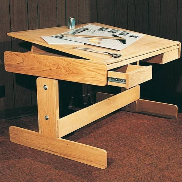 View A Larger Image Of Woodworking Project Paper Plan To Build Adjustable  Work Table, Plan