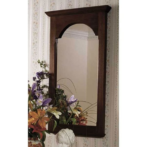 View a Larger Image of Woodworking Project Paper Plan to Build American Beauty Wall Mirror