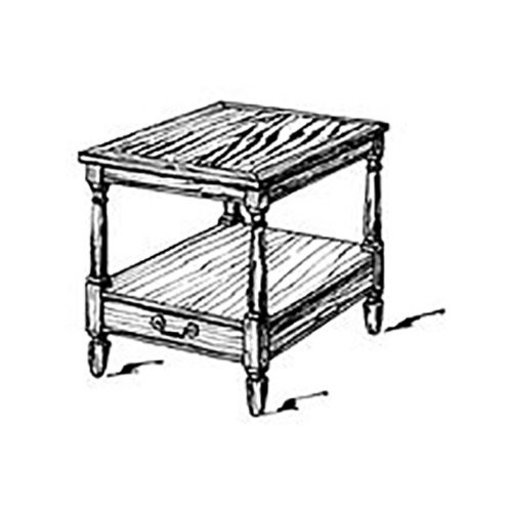 View a Larger Image of Woodworking Project Paper Plan to Build American End Table