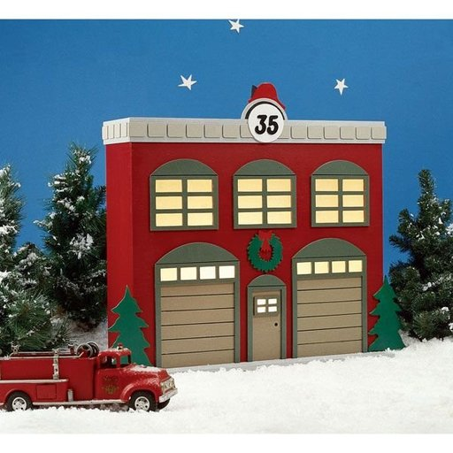 View a Larger Image of Woodworking Project Paper Plan to Build Americana Village Fire Station