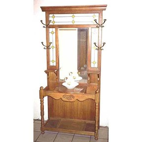 Woodworking Project Paper Plan to Build Antique Hall Tree, AFD155