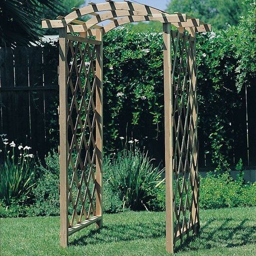 View a Larger Image of Woodworking Project Paper Plan to Build Arbor Trellis, Plan No. 613