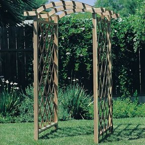 Woodworking Project Paper Plan to Build Arbor Trellis, Plan No. 613