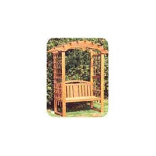 View a Larger Image of Woodworking Project Paper Plan to Build Arbor with Bench