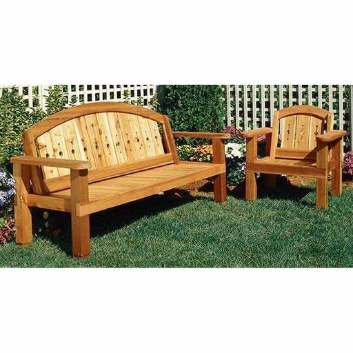 View a Larger Image of Woodworking Project Paper Plan to Build Arched Bench and Chair