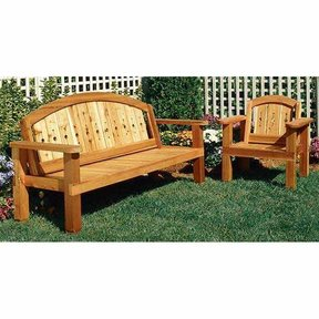 Woodworking Project Paper Plan to Build Arched Bench and Chair