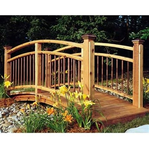 View a Larger Image of Woodworking Project Paper Plan to Build Arched Foot Bridge
