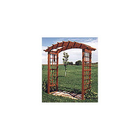 Woodworking Project Paper Plan to Build Archway Arbor