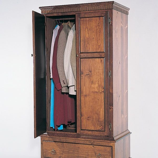 View A Larger Image Of Woodworking Project Paper Plan To Build Armoire,  Plan No.