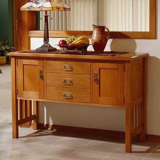 View a Larger Image of Woodworking Project Paper Plan to Build Arts and Crafts Buffet