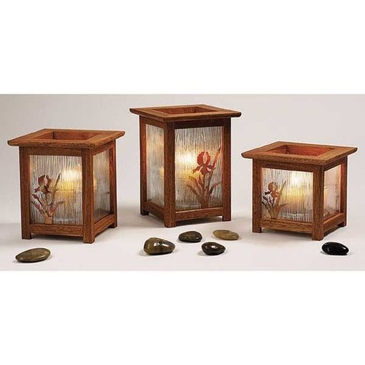 View a Larger Image of Woodworking Project Paper Plan to Build Arts and Crafts Candle Lanterns