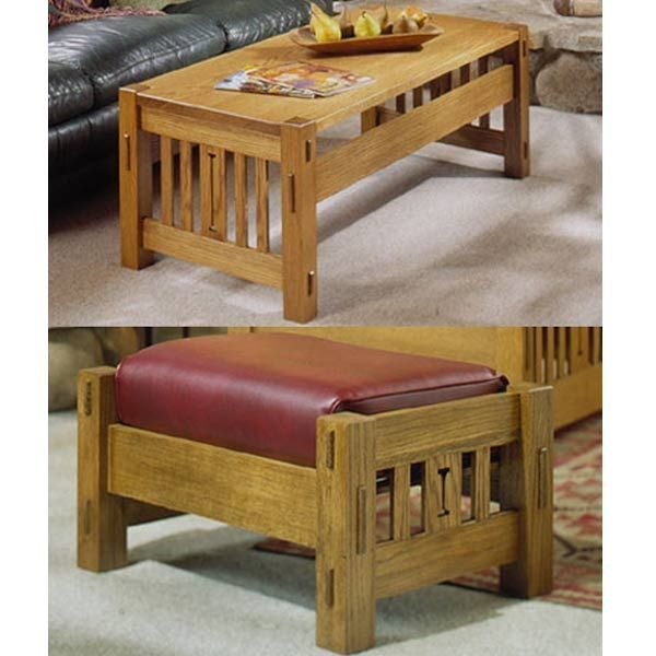 View A Larger Image Of Woodworking Project Paper Plan To Build Arts And  Crafts Coffee Table