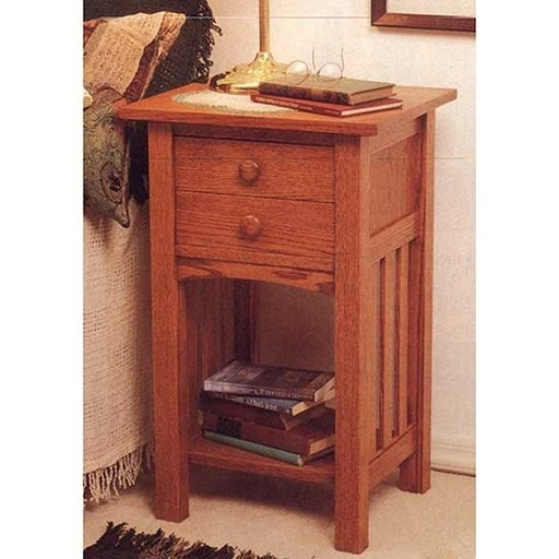 View a Larger Image of Woodworking Project Paper Plan to Build Arts and Crafts End Table/Nightstand