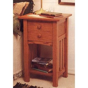 Woodworking Project Paper Plan to Build Arts and Crafts End Table/Nightstand